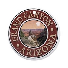 Grand Canyon - Distressed Round Ornament
