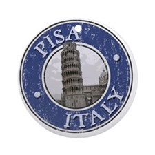Pisa, Italy - Distressed Round Ornament