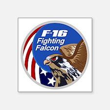 """F-16 Falcon Square Sticker 3"""" x 3"""""""