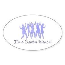 I'm a Creative Woman Oval Decal