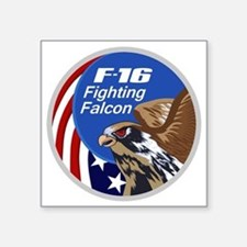 "F-16 Falcon Square Sticker 3"" x 3"""