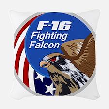 F-16 Falcon Woven Throw Pillow