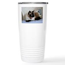 sealpoint siamese cat yawn Travel Mug