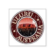 "Uluru, Australia - Distress Square Sticker 3"" x 3"""
