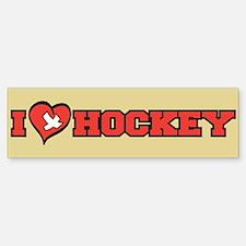 I Heart (Love) Hockey Bumper Bumper Bumper Sticker