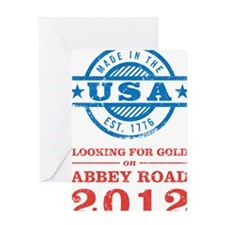 Team USA 2012 Abbey Road Greeting Card