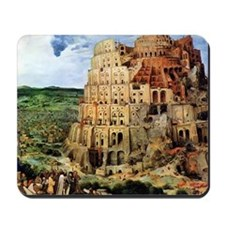 Pieter Bruegel the Elder Tower of Babel Mousepad