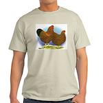 GL Wyandotte Rooster and Hen Light T-Shirt