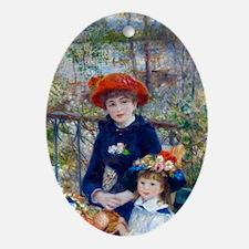 Pierre-Auguste Renoir Two Sisters Oval Ornament