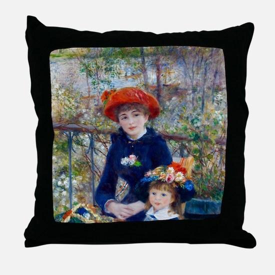 Pierre-Auguste Renoir Two Sisters Throw Pillow