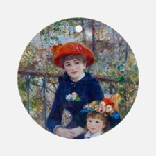 Pierre-Auguste Renoir Two Sisters Round Ornament