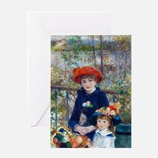 Pierre-Auguste Renoir Two Sisters Greeting Card