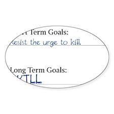 Short Term / Long Term Decal