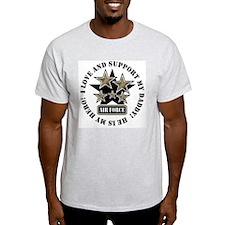 Air Force Kids Love & Support T-Shirt