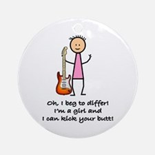 Girls & Guitars Ornament (Round)