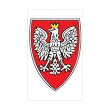 Poland Tarcza 1 Rectangle Decal