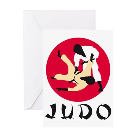 judo fighters Greeting Card