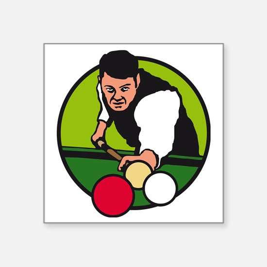 "karambol billard Square Sticker 3"" x 3"""