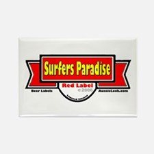 Funny Surfer paradise Rectangle Magnet