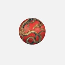 Katsushika Hokusai Dragon Mini Button