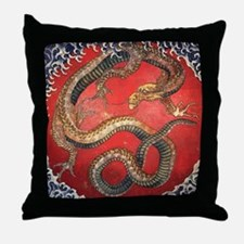 Katsushika Hokusai Dragon Throw Pillow