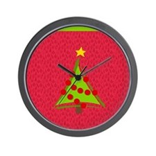 Christmas Tree Design Wall Clock