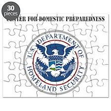 Center for Domestic Preparedness with Text Puzzle