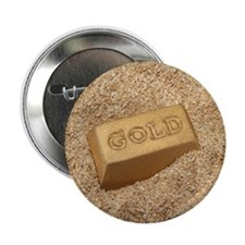 """Gold bar in the sand. 2.25"""" Button"""