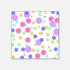 "Polka Dots Square Sticker 3"" x 3"""
