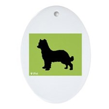 Shepherd iPet Oval Ornament
