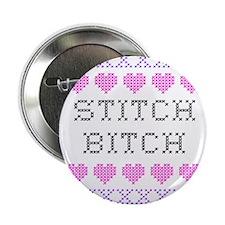 Stitch Bitch - Cross Stitch Button