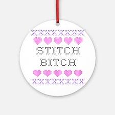 Stitch Bitch - Cross Stitch Ornament (Round)