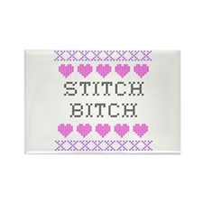 Stitch Bitch - Cross Stitch Rectangle Magnet
