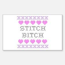 Stitch Bitch - Cross Stitch Rectangle Decal
