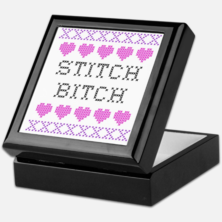 Stitch Bitch - Cross Stitch Keepsake Box
