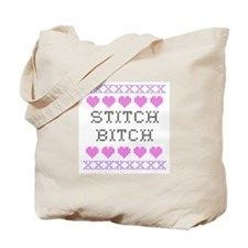 Stitch Bitch - Cross Stitch Tote Bag