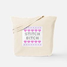 Stitch Bitch - Cross Stitch Tote Bag