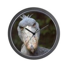 Shoebill stork stare Wall Clock