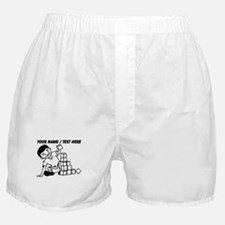 Custom Kid Playing With Blocks Boxer Shorts