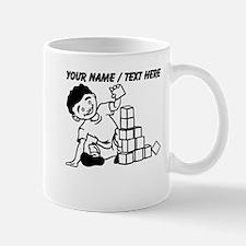 Custom Kid Playing With Blocks Mugs