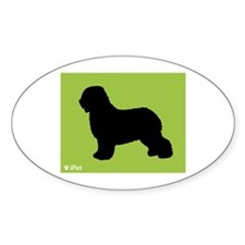 Schapendoes iPet Oval Decal