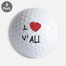I heart yall Golf Ball