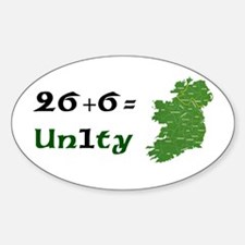 Irish Unity Oval Decal