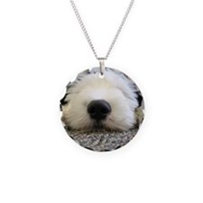 English Sheepdog puppy Necklace