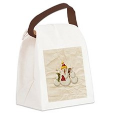 snowmenornament1 Canvas Lunch Bag