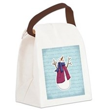 snowmangreetings Canvas Lunch Bag