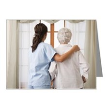 Nurse helping an elderly wom Note Cards (Pk of 20)