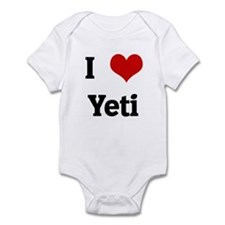 I Love Yeti Infant Bodysuit