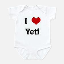 I Love Yeti Infant Bodysuit