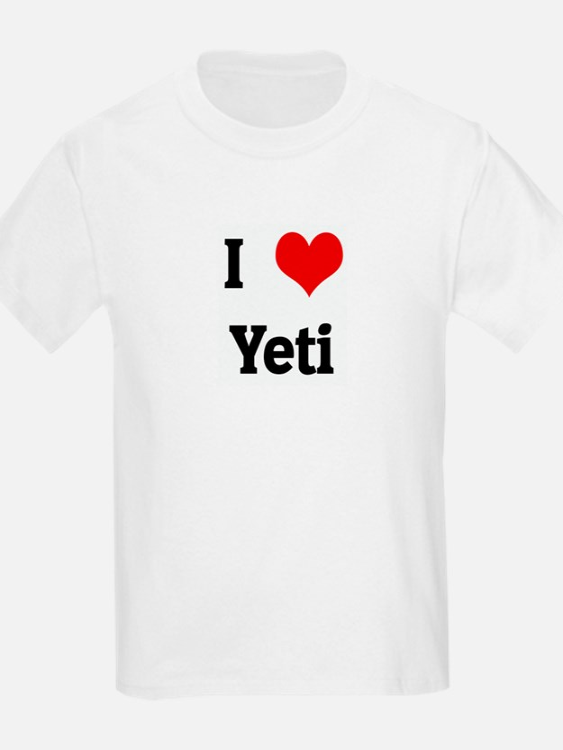 I Love Yeti Kids T-Shirt